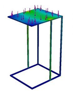 Eindige elementenmethode stainiq bijzettafel meubel