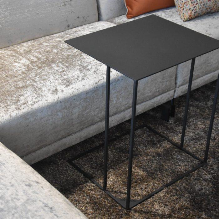 bijzettafel zwart design laptoptafel