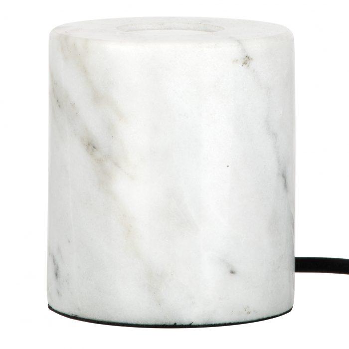 vooraanzicht wit marmeren lamp