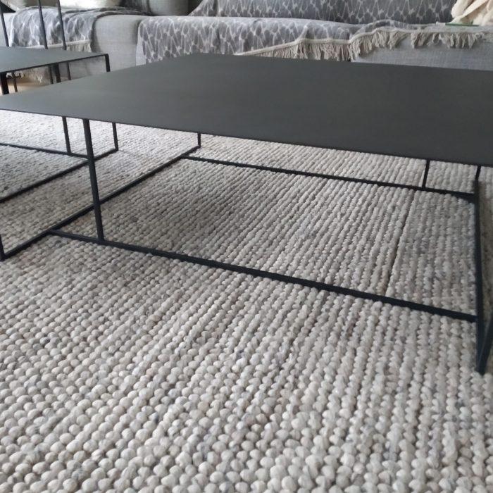 metalen salontafel living xl 100 x 100 x 35